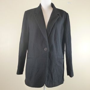 Sag Harbor Gray Solid Classic Wool Blazer Size 14